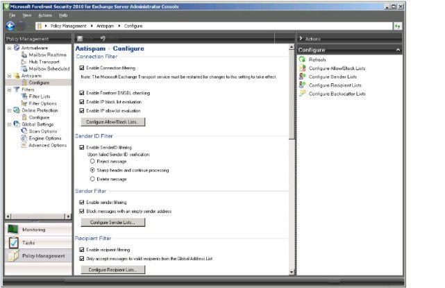 Steuerzentrale: Die Verwaltung der Server Protection erfolgt nun durch eine überarbeitete Konsole, die sich an dem aktuellen GUI der Microsoft-Tools orientiert.