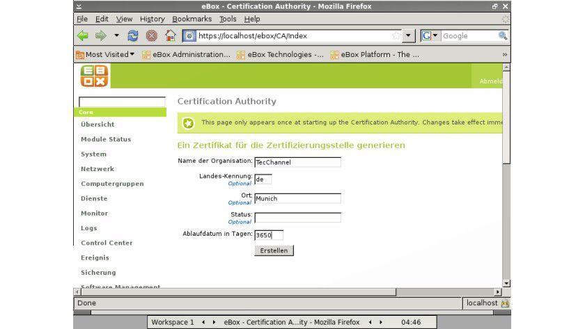 eBox-Server: OpenVPN ist ebenfalls enthalten und lässt sich recht einfach aufsetzen.