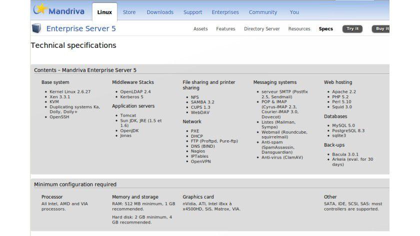 Mandriva Enterprise Server 5: Das Flaggschiff des französischen Linux-Distributors.