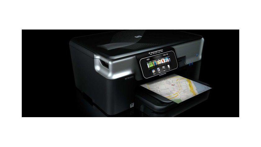Webfähiger Drucker: Mit dem Photosmart Premium hat Hewlett Packard 2009 einen Drucker mit integriertem Internetzugang vorgestellt. (Quelle: Hewlett Packard)