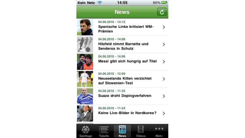 iLiga South Africa: Die kostenlose App bündelt alle Informationen zur Fußball-WM. Live-Ticker und Internetradio halten während einer Partie auf dem Laufenden.