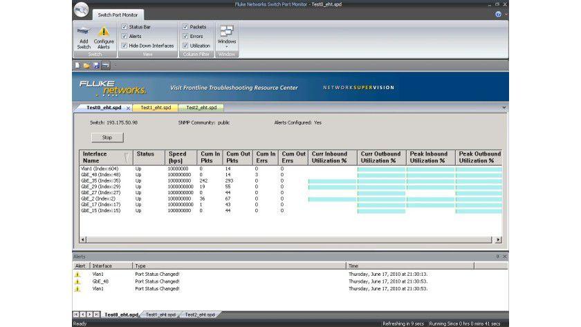 Fluke Switch Port Monitor: Das Tool zeigt alle im Netzwerk befindlichen Switchports an.