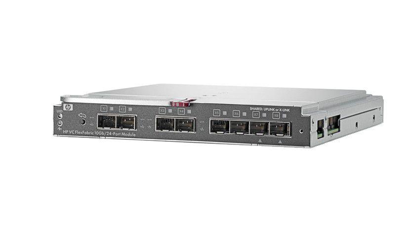 Kontaktpflege: Der Virtual Connect FlexFabric von HP führt Speicher- und Datennetze zusammen. (Quelle: HP)