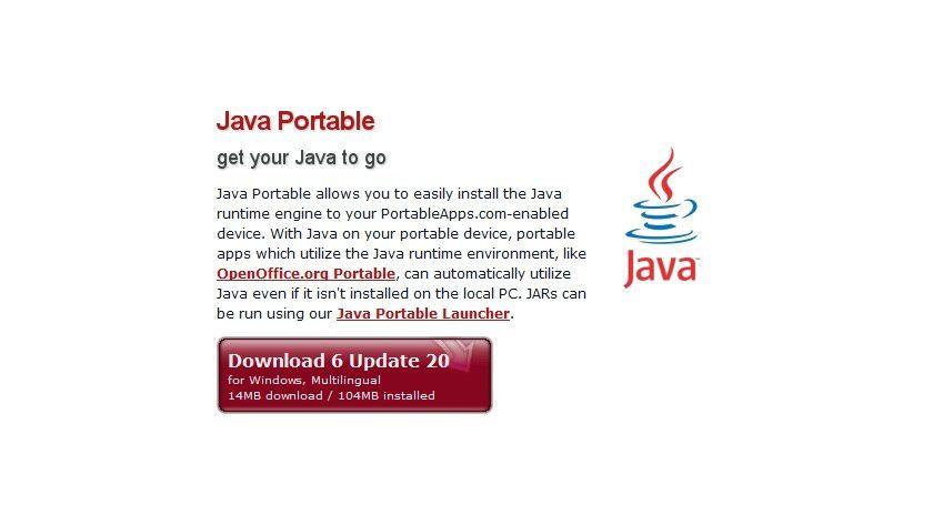 Tragbare Java-Umgebung: Mit portable Java ist es egal, ob auf einem Zielsystem Java installiert ist - die Laufzeitumgebung wird direkt vom USB-Stick aus gestartet.