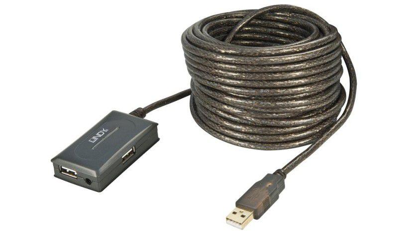 Distanzen überbrücken: Die USB-Aktiv-Verlängerung erlaubt eine Reichweite von bis zu 10 Meter. (Quelle: Lindy)