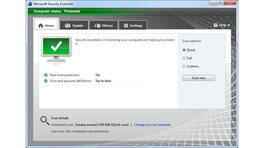 Microsoft Security Essentials: Es steht eine neue Beta-Version der kostenlosen Sicherheitslösung zum Download parat. (Quelle: Microsoft)