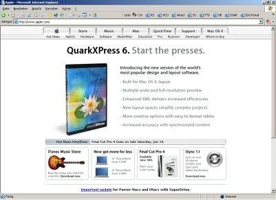 Apple misst der ersten nativen XPress-Version ganz offensichtlich erhebliche Bedeutung bei.