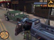 Unser Held braucht ein neues Gefährt. Er zerrt den Fahrer des blauen Pickup vom Sitz.