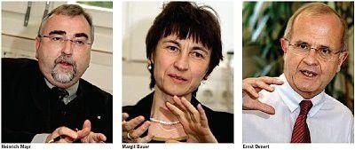 Heinrich Mayr, Margit Bauer, Ernst Denert (von links). Fotos: Joachim Wendler
