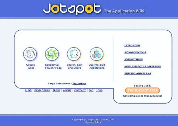 Gehostete Systeme wie Jotspot könnten Wikis für den Enterprise-Markt erschließen.