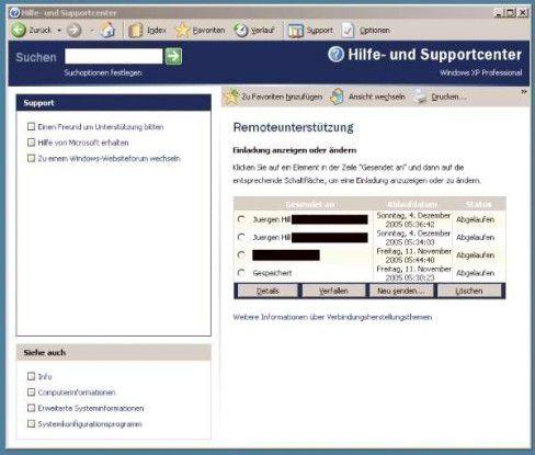Der Anwender kann bei der integrierten Remoteunterstütztung selbst kontrollieren, wer Zugriff auf seinen Rechner erhält.