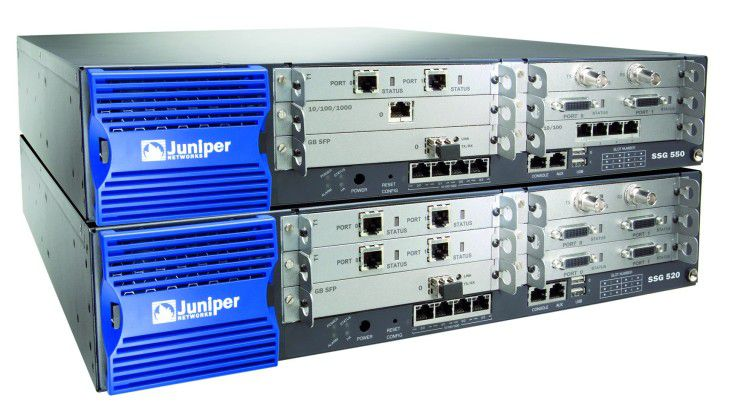 Die Security Services Gateways von Juniper Networks bieten eine Kombination aus Security-Appliance und Router.