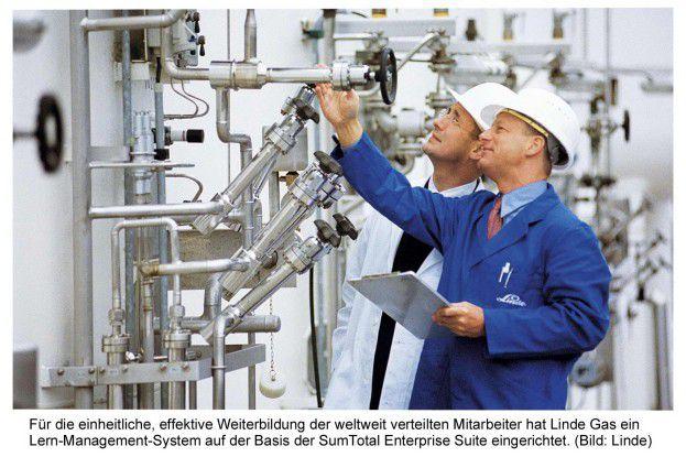 Für die standardisierte Weiterbildung der auf 50 Standorte verteilten Mitarbeiter hat Linde Gas ein lern-Management-System installiert.
