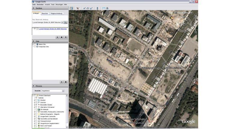 Hm - trotz (c)2006 nur eine Baugrube, wo längst das Verlagsgebäude von IDG Deutschland steht...