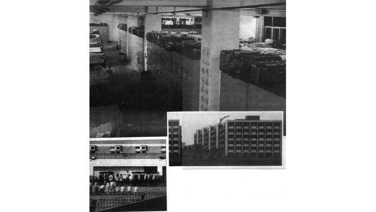 """Diese Scans aus der """"Mail on Sunday"""" zeigen den """"iPod-City""""-Komplex von Foxconn. Q: ars technica"""