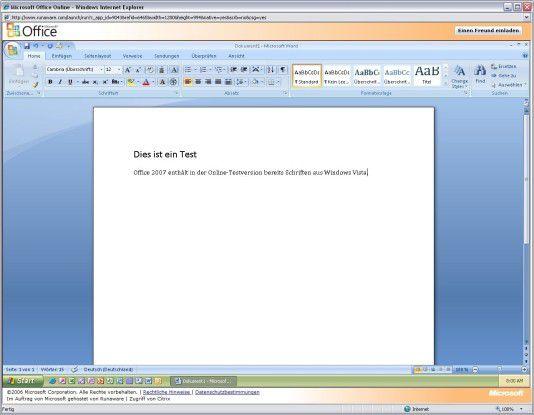 Der Citrix-Fernzugriff auf die Beta 2 von Office 2007 funktioniert durchaus performant.
