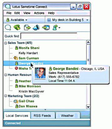 Die Anzeige des Online-Status ist eine zentrale Funktion von IM. Sie kann auch in andere Anwendungen eingebettet werden.