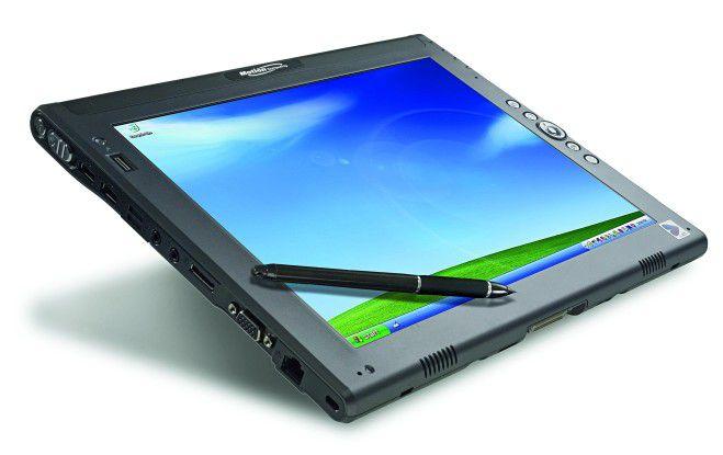 Der Tablet-PC von Motion Computing überzeugt durch ausgeklügelte Detaillösungen.