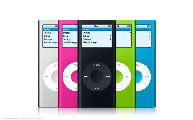"""Alles so schön bunt hier - das kennt man noch vom """"iPod mini""""..."""