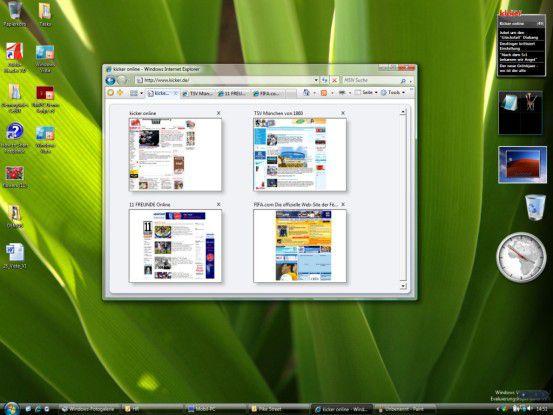 Der Internet Explorer in Windows Vista