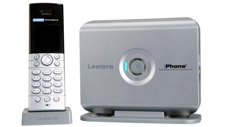 """Das Skype-Telefon """"CIT400"""" ist eines von mehreren neuen iPhones von Linksys, der Consumer-Sparte von Cisco."""