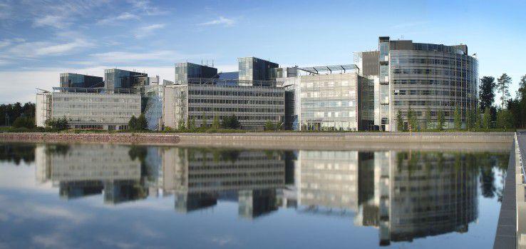 Nokias Hauptquartier in Espoo, Finnland.