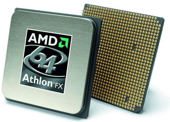 Zwei Athlon 64 FX von AMD ergeben vorläufig noch ein Quad-Core-Modul.