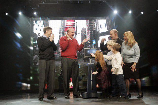 """Bill Gates, Steve Ballmer und die Regans aus Germantown - ein von 50 """"Vista-Familien"""" weltweit..."""
