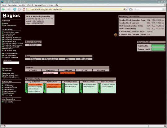 Nagios ist das bekannteste und verbreiteste Open-Source-Tool für System-Management.