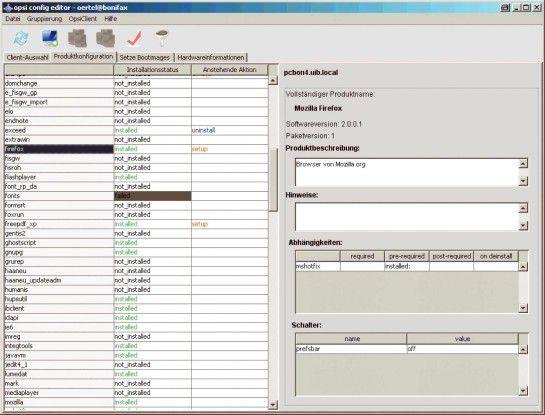 Opsi ist hilfreich für die automatische Verteilung und Installation von Software.