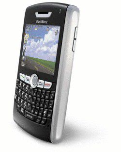 "Mit Multimedia und Navi: Der neue ""Blackberry 8800"" von Push-E-Mail-Pionier Research in Motion (RIM)"