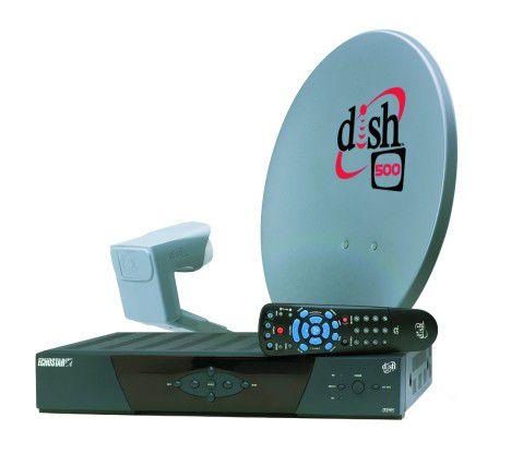 Eine HDTV-Schüssel samt Receiver von EchoStar.
