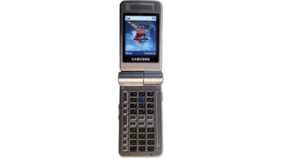 Live-Bilder: Samsungs Twist-Display QWERTZ Handy SGH-D300