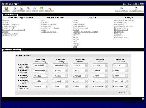 Prioritätenzuordnung mit OTRS::ITSM - Open Source auf einem neuen Gebiet.