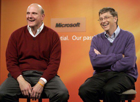 Steve Ballmer und Bill Gates: Kalt erwischt durch Googles Kauf von DoubleClick.