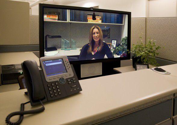 Das kleinere, für zwei Personen konzipierte TelePresence 1000, lässt sich auch in Office-Umgebungen integrieren.