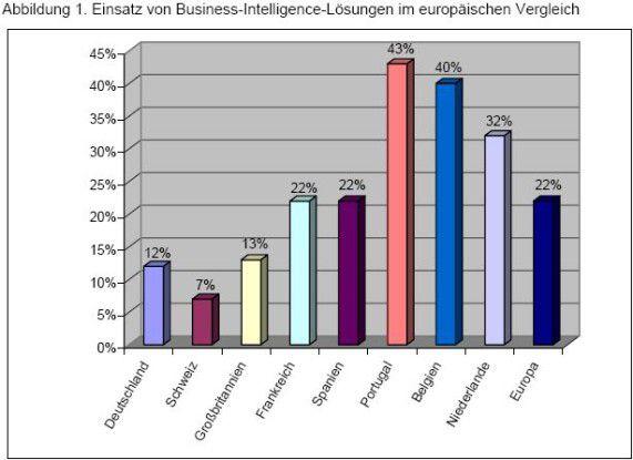 Deutschland und die Schweiz sind laut Studie in Sachen BI-Nutzung Schlusslicht.