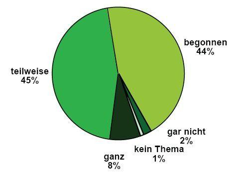 So weit sind deutsche Unternehmen mit der Umsetzung von Geschäftsprozess-Management
