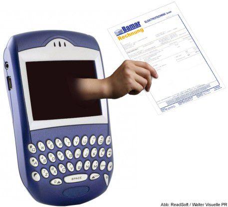 """Das bestehende Workflow-System """"Web Cycle"""" hat Readsoft nun auch auf dem Blackberry verfügbar gemacht."""