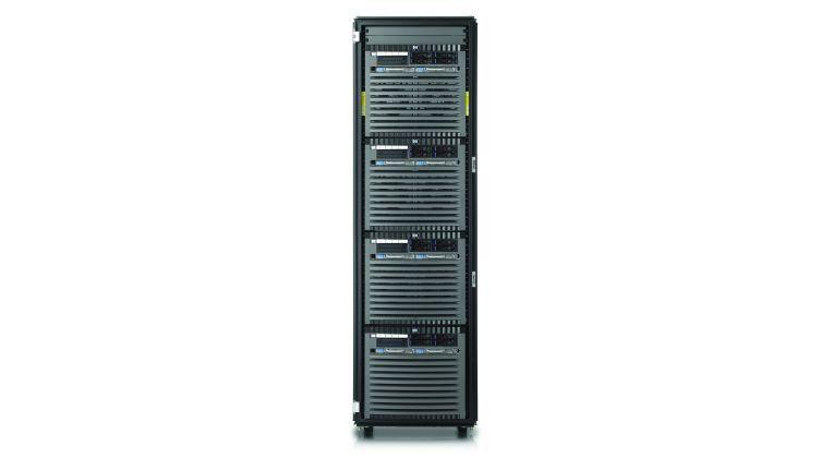 HP bietet seine Integrity-Modelllinie auch im Rack an.