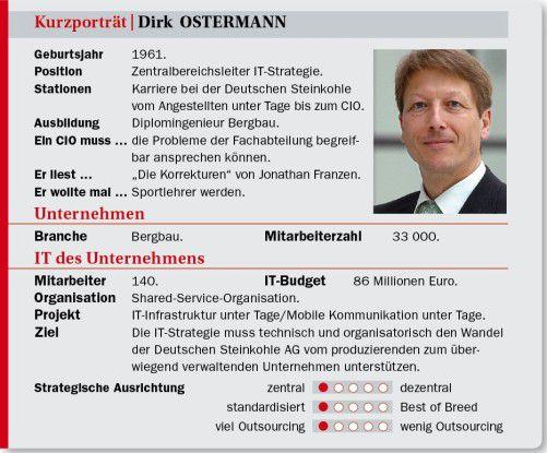 Dirk Ostermann auf einen Blick: Stationen, Projekte, Ansichten.
