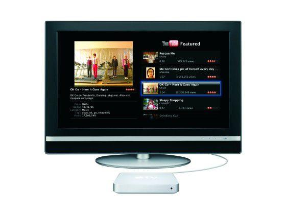 Ein Traum für Couch Potatoes: Apple TV zaubert YouTube auf den Fernseher.
