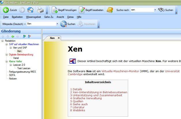 Lexican 2.0 bietet Einzelpersonen einen schnellen Einstieg ins Wissens-Management. Zwar können andere Tools deutlich mehr, sie liegen allerdings in einer anderen Preisklasse als das rund 40 Euro teure Programm von der Firma Vetafab Software.