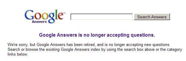 Erfolg nicht garantiert: Google Answers gehört zu mehreren Projekten des Suchmaschinenbetreibers, die hinter den Erwartungen zurückblieben.