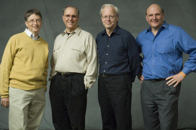 Die Erbfolge ist schon länger geregelt: Bill Gates, Craig Mundie, Ray Ozzie, Steve Ballmer (v.l.n.r.)