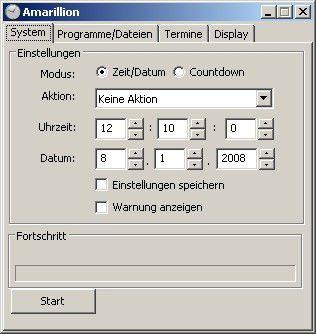 Amarillion steuert das Starten von Anwendungen sowie das Herunterfahren eines Rechners.