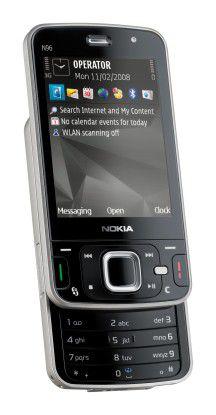 Das N96 ist das neue Topmodell der multimedialen Nseries von Nokia.