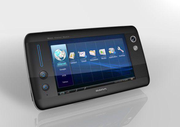 MID von BenQ: 5-Zoll-Touchscreen mit WLAN und 3G - wenn man das Gerät schüttelt, werden alle Applikationen minimiert.