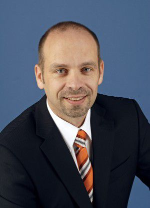 Christof Seltmann von der DB Systel wirbt mit guten Karriereperspektiven bei der Bahntochter.