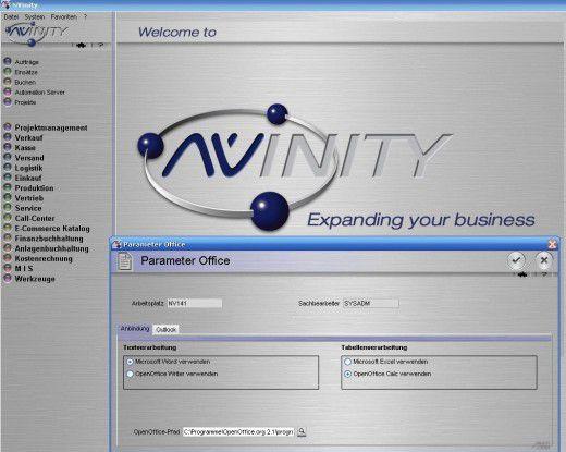 Nvinity 2.0 basiert auf Microsoft .NET und richtet sich unter anderem an den Handel.